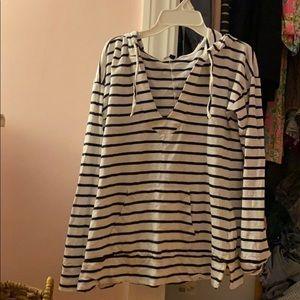 Hooded striped long sleeve
